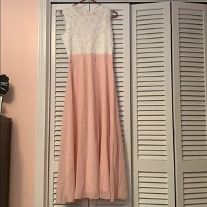 Brand New Pink & White Ankle Dress